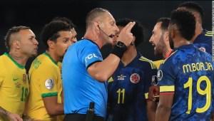 Brasil vs. Colombia polémica