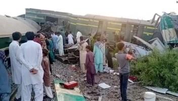 Accidente tren Pakistán