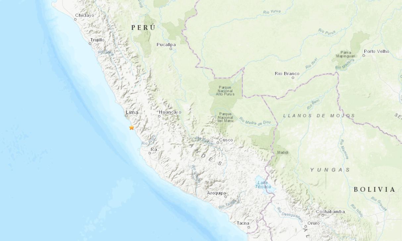Sismo de magnitud 5,8 sacude Perú