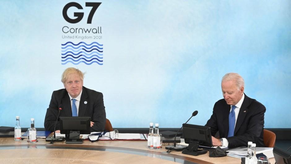 Johnson y Biden en G7