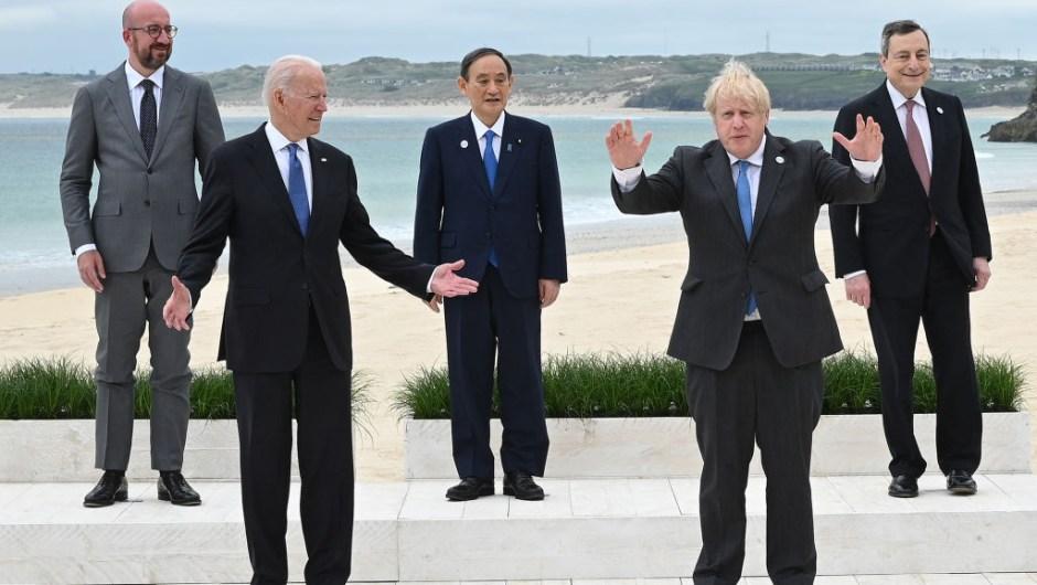Biden, Johnson y el resto de los líderes del G7