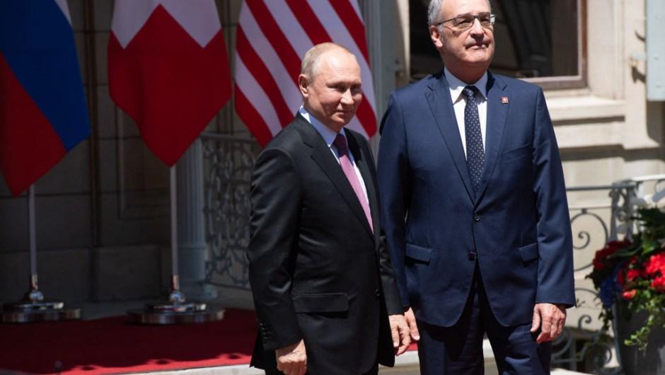 Putin y el presidente de Suiza, Guy Parmelin