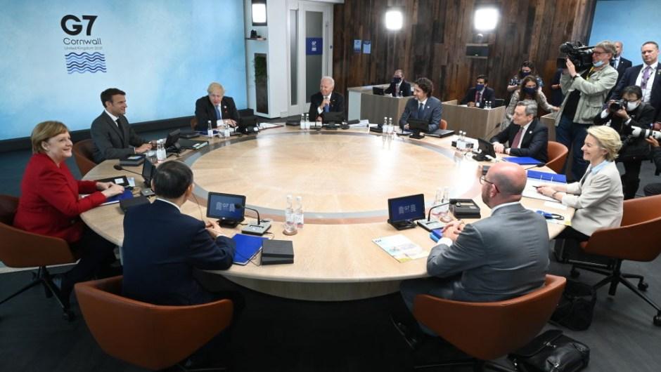 Los líderes del G7, en el inicio de la cumbre.