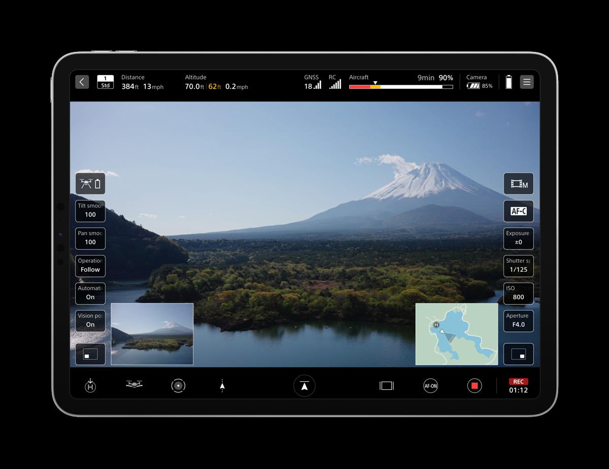 Sony Airpeak flight app