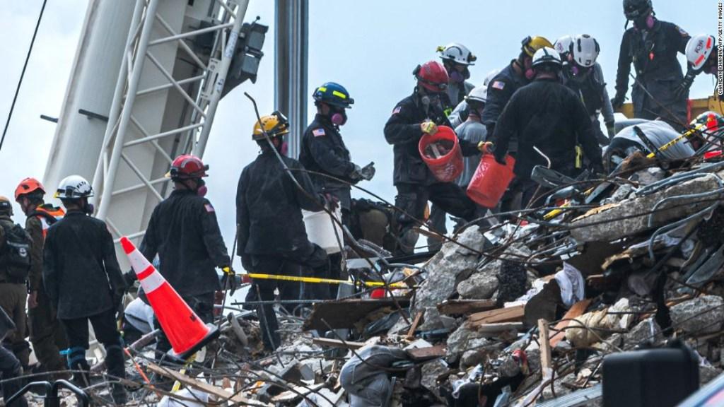 Estos son los desafíos que enfrentan los rescatistas en el edificio derrumbado en Miami