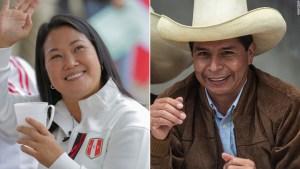 Las elecciones presidenciales de Perú están demasiado reñidas para anunciar un ganador, pero Keiko Fujimori lidera el recuento preliminar
