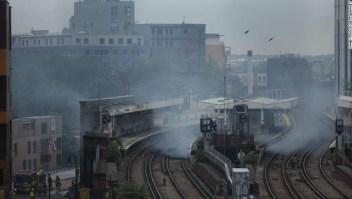 estación tren londres incendio