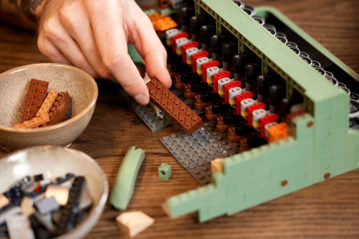 lego máquina de escribir