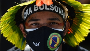 Protests Against Bolsonaro As Brazils Nears Half Million COVID Deaths