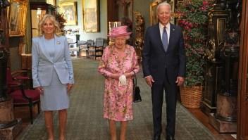 Así recibió la reina isabel II recibió a Joe Biden en el castillo de Windsor