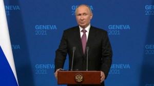 Putin dice a CNN: No hubo hostilidad con Biden