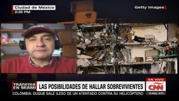 """""""Sí hay posibilidades de hallar sobrevivientes en Miami"""", explica experto en rescates"""