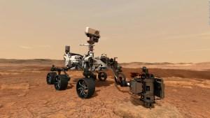 El momento en que el Perseverance toma su selfie en Marte