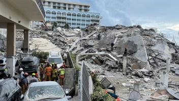 Reanudan búsqueda de personas en edificio de Miami