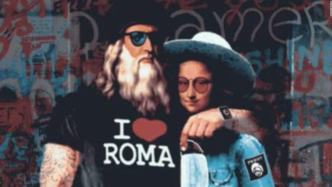El mural de Da Vinci que simboliza reactivación turística