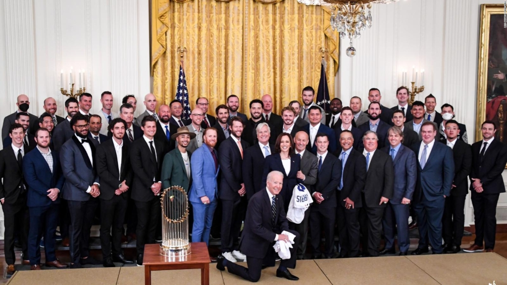 Los Dodgers, recibidos por Joe Biden