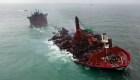 Barco hundido en Sri Lanka provoca desastre ambiental