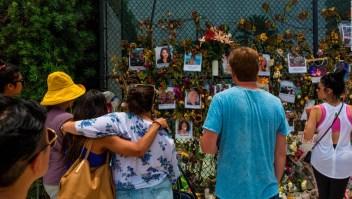 El santuario en homenaje a las víctimas del derrumbe