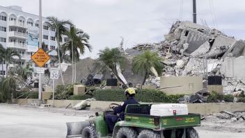 CNN regresa al sitio del colapso en Miami 14 días después