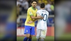 Scaloni y Marquinhos calientan la final de Copa