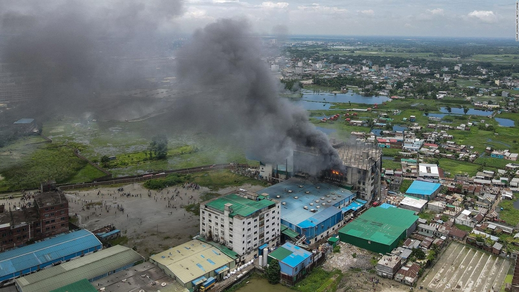 More than 50 people have been killed in a fire in Bangladesh