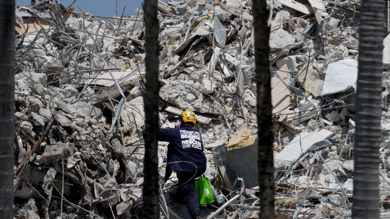 Asciende a 90 la cifra de muertes tras el derrumbe del edificio en Miami