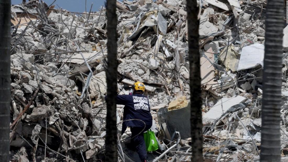 Derrumbe del edificio en Miami deja ya 90 muertos