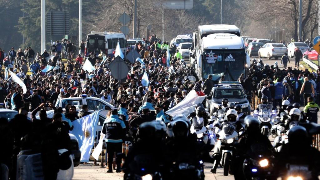 Argentina recibe a sus campeones, con Messi a la cabeza