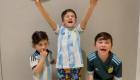 Hijos de Lionel Messi alentaron a su padre en tierno video