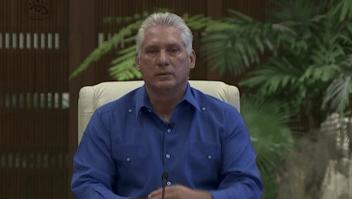"""Díaz-Canel habla de """"descrédito"""" tras protestas en Cuba"""