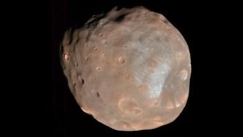 Esta luna de Marte parece una papa