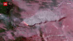 Un inmenso incendio forestal visto desde el espacio