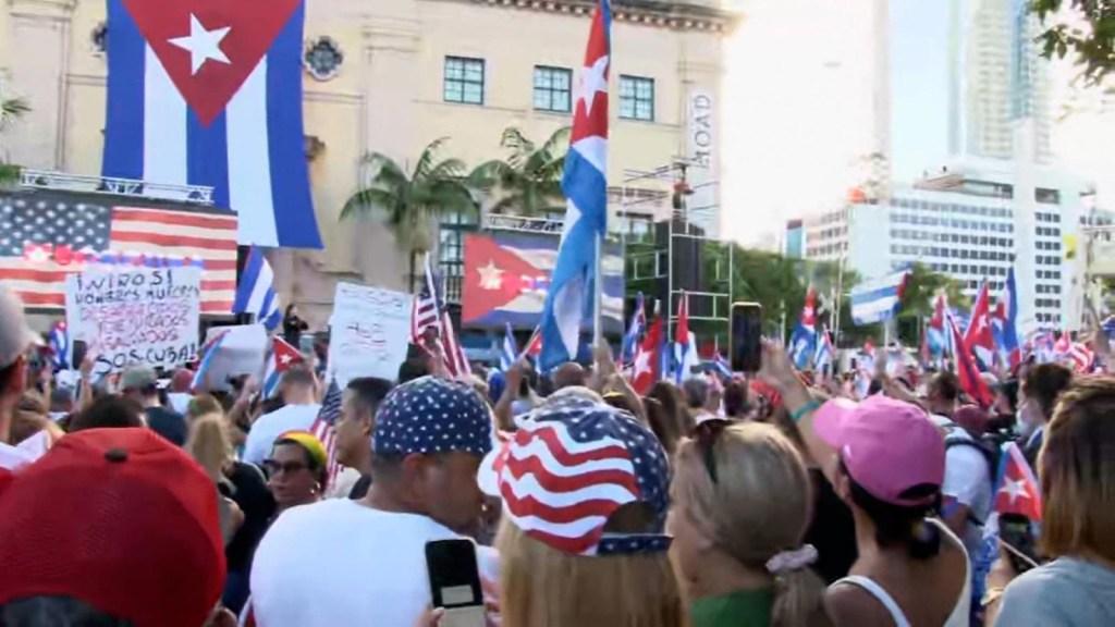 Movilizaciones en Miami por más libertades para Cuba