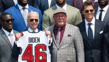 La divertida interacción entre Brady y Biden