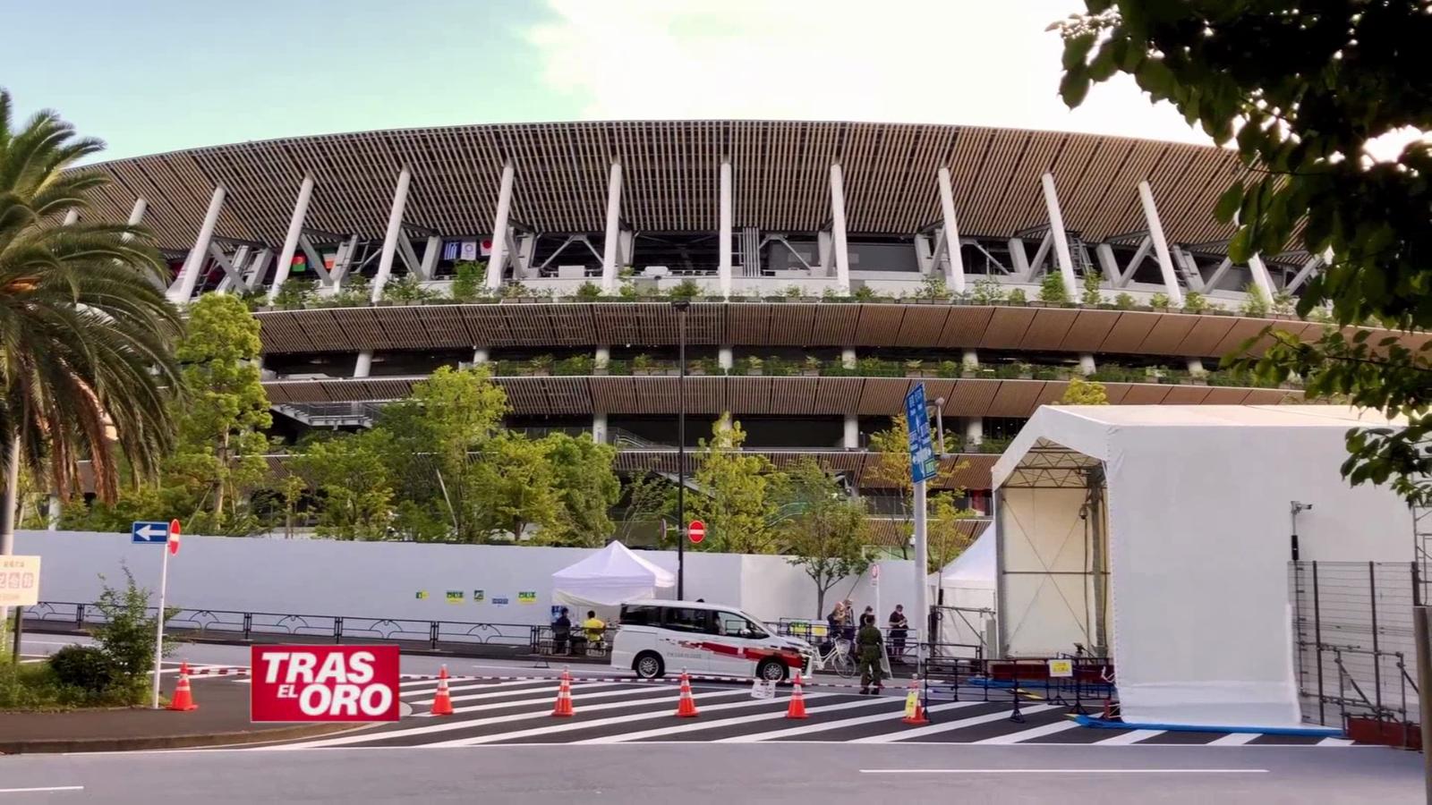 El Estadio Olímpico de Tokio antes de la inauguración