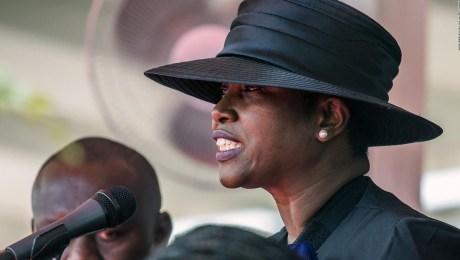 Viuda de Jovenel Moïse despide a su esposo en Haití