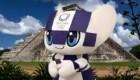La mascota olímpica Miraitowa visita Chichén Itzá