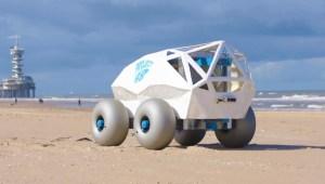 Este es Beachbot, el robot que limpia las playas