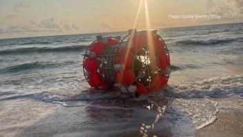 Inusual aventura marítima encalla en Florida