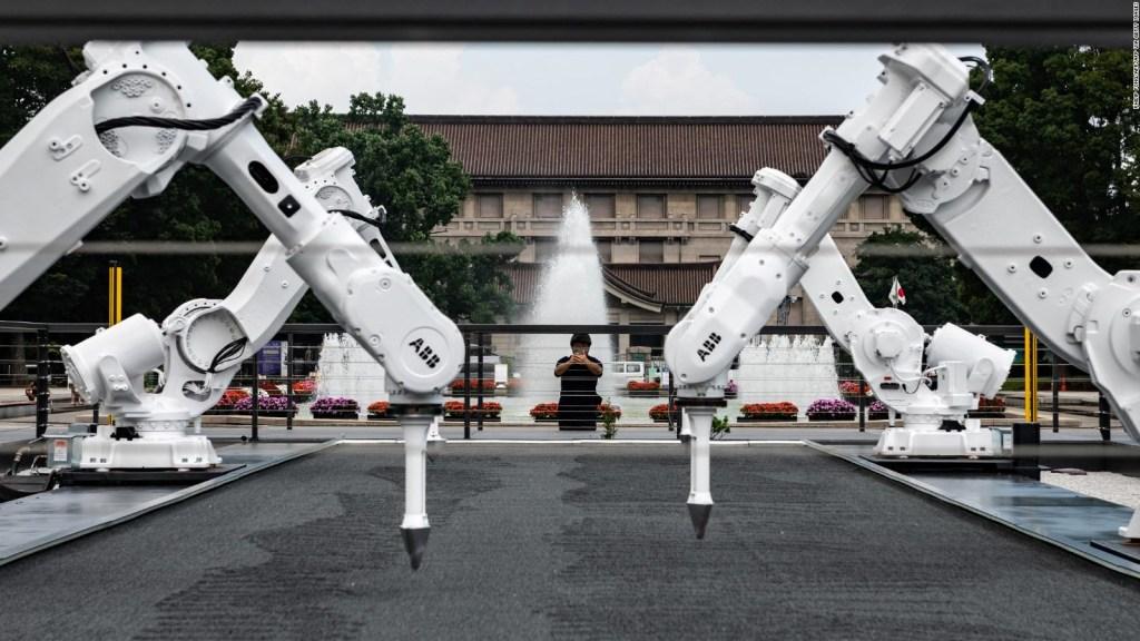 Mira el 'arte robótico' inspirado en los Olímpicos