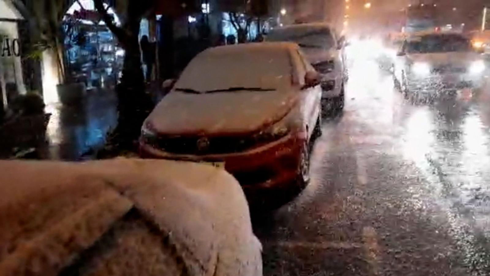 Histórico: nevó en varias ciudades de Brasil y también en otros países de Sudamérica