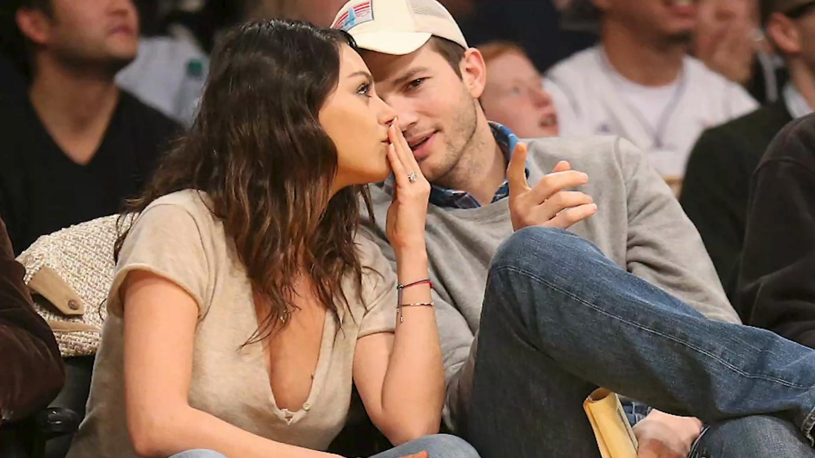 Ashton Kutcher y Mila Kunis solo bañan a sus hijos cuando se ven sucios