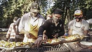 Vecinos en Argentina hacen pizza de 14 metros