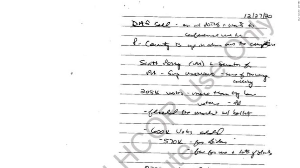 ¿Qué revelan notas manuscritas sobre presiones de Trump?