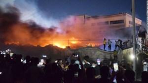 Iraq incendio hospital