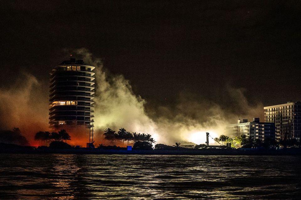 Miami edificio demolición