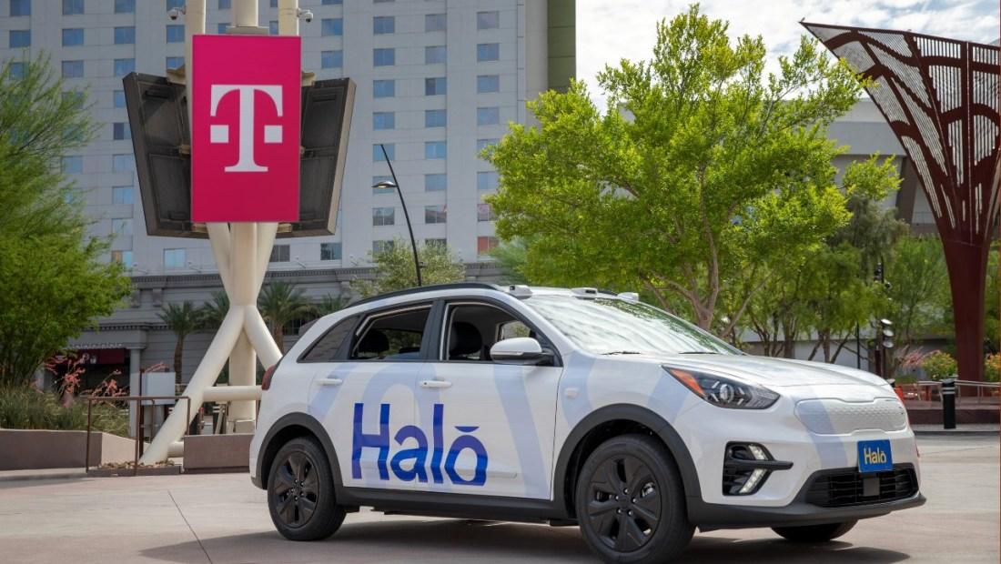Halo Tmobile Las Vegas Driverless Car 5G