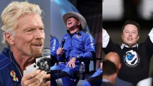 Richard Branson, Jeff Bezos y Elon Musk