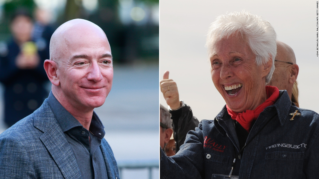 Wally Funk, an 82-year-old woman will travel to space with Jeff Bezos