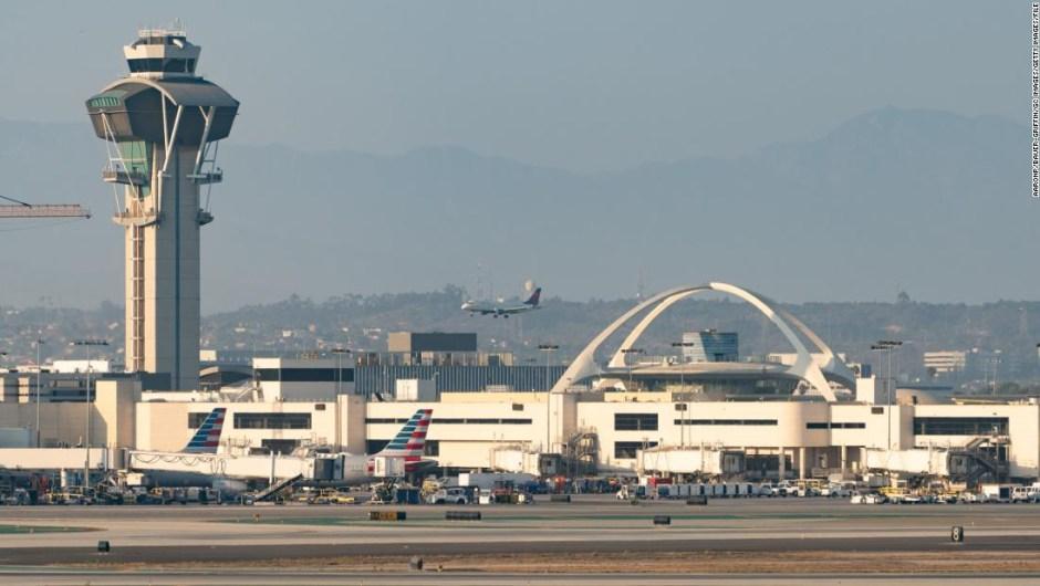 Hombre mochila jetpack Los Ángeles